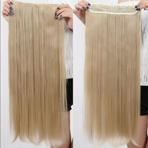 BRAND NEW ASH BLONDE 1pc/5 CLIP HAIR EXTENSIONS